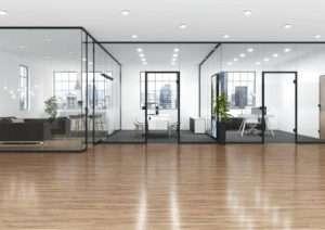 UNIQUIN - das neue Glas-Trennwandsystem von dormakabe, variabel und schallhemmend - www.ganzglastuere.de