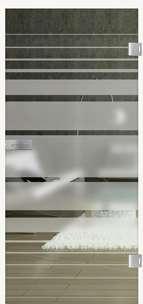 Glastüren Siebdruck Lines Rising 509 Weissglas Pure White Serie G - www.ganzglastuere.de