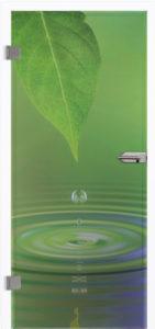 Glastür 9006 Waterdrop Farbdruck
