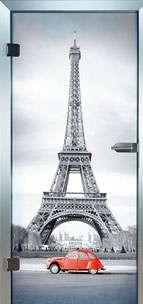 Farbdrucktüren Loft Glastüren Modell 9017 Paris
