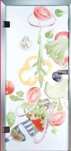 Farbdrucktüren Loft Glastüren Modell 9018 Salad