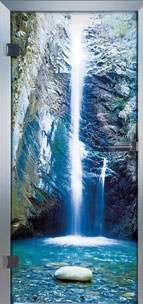 Farbdrucktüren Loft Glastüren Modell 9020 Waterfall