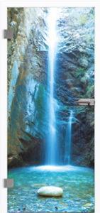 Glastür 9020 Waterfall Farbdruck