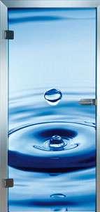 Farbdrucktüren Loft Glastüren Modell 9023 Deep Blue