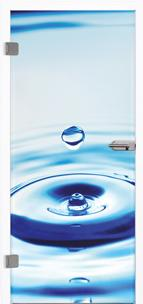 Glastür 9023 Deep Blue Farbdruck