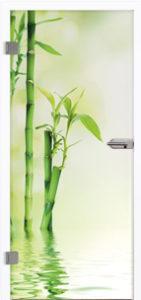 Glastür 9041 Bamboo Farbdruck