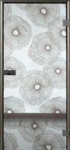 Ganzglastür Telio Flower 1 Stofftür MAME
