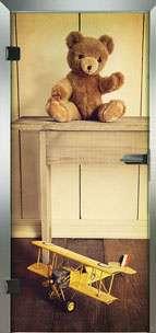 Farbdrucktüren Loft Glastüren Modell 9033 Teddy