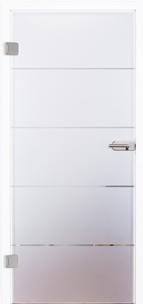 Glastür 4056-10 Slim Siebdruck