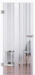 Glastür 4203 Lino II Siebdruck