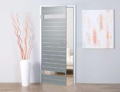 Intersect Glastür mit Siebdruck Motiv