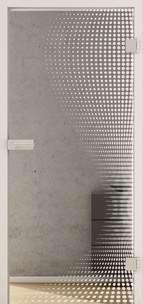Ganzglastüren Laserdekor Modell Dots LD 661 Weissglas Pure White One Side Serie G - www.ganzglastuere.de
