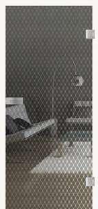 Glastüren Digitaldruck VSG Prime Modell Rhombic 568 Weißglas Pure White Serie G - www.ganzglastuere.de