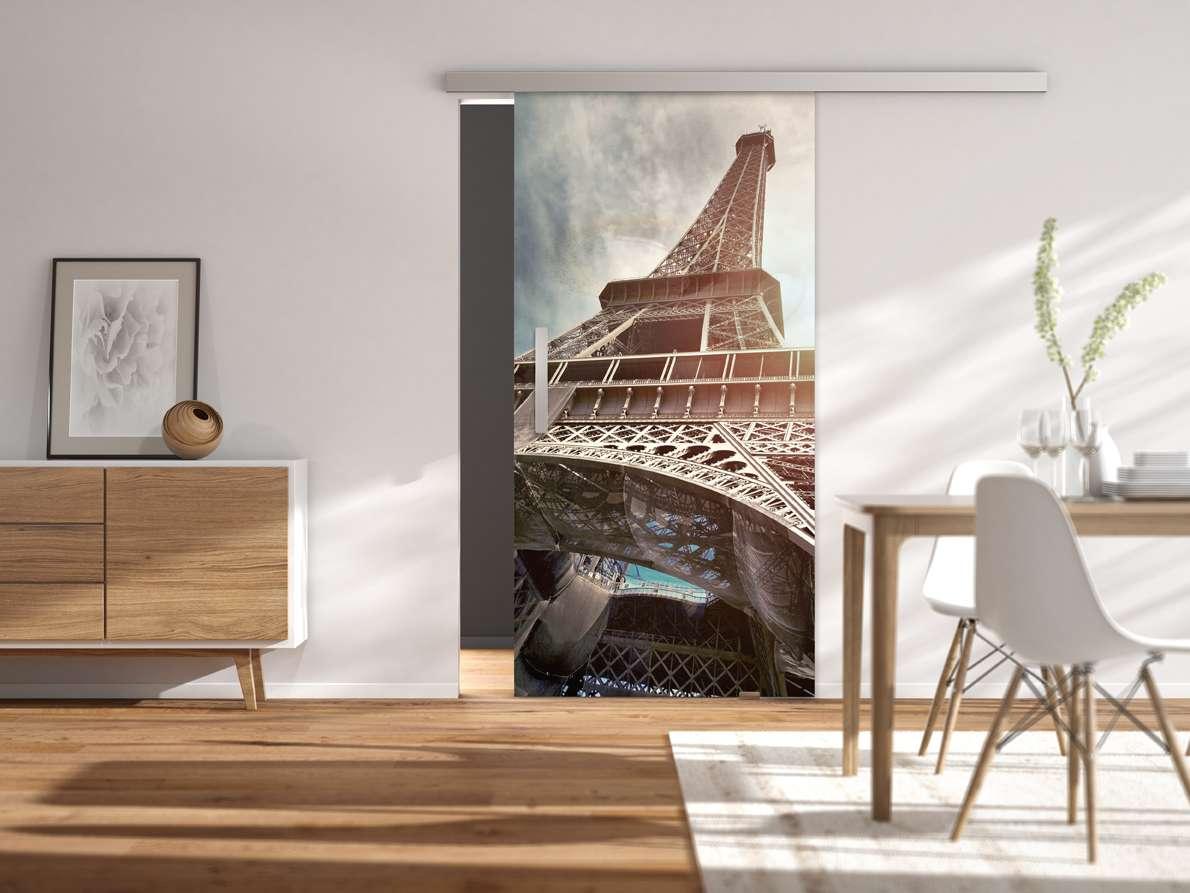 Glasschiebetür Digitaldruck VSG Prime mit Folie farbig Modell Digital 696 Serie G Motivbild - www.ganzglastuere.de