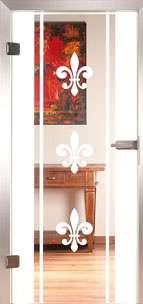 Glastür Loft 3224 Lilie Sanstrahlung