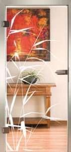 Glastür Loft 3235 Schilf Sandstrahlung