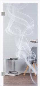 Glastür 7024 Rauch I Laser