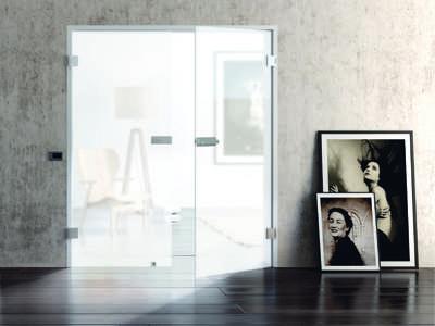 Glastüren Basics - Tür Snowwhite Weißglas Siebdruck vollflächig Motivbild - www.ganzglastuere.de