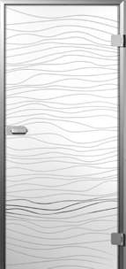 Sensita Wave 1 Glastür mit Sandstrahlung MAME