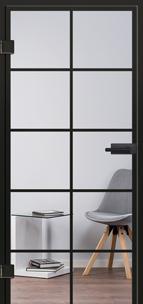 Glastüren Loft im Industrial Design mit schwarzen Sprossen - zu den Modellen - www.ganzglastuere.de