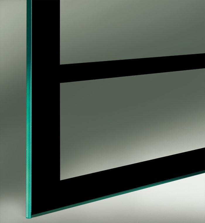 Industrial Design Glasschiebetüren Beschichtung einseitig