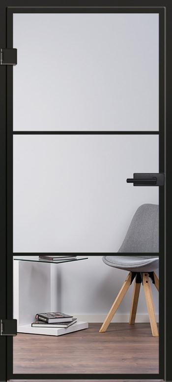 Glasschiebetür Modell 9520 Industrial Design