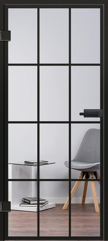 Industrial Design Glasschiebetür Modell 9532