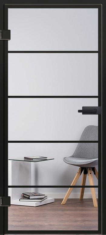 Glastür Industrial Design Modell 9540