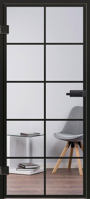 Modell 9541 Glasschiebetür Industrial Design
